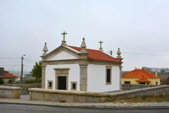 Portuguese church, way to Santiago de Compostela. Portugal Stock Image