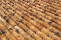 Portuguese Clay Roof Tiles Stock Photo
