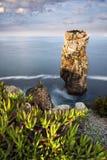 Portuguese coastline in Peniche. View of the sea and rocks in Peniche, Portugal, 2015 Royalty Free Stock Photos