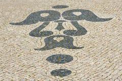 Portuguese cobblestone Royalty Free Stock Image