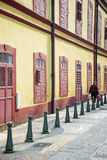Portuguese colonial architecture street in macau china Stock Photography