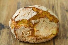 Portuguese cornbread on brown background Stock Photo