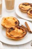 Portuguese creamy egg tart pastel de nata Stock Images