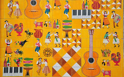 Portuguese culture in azulejos Royalty Free Stock Image