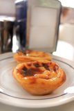 Portuguese custard pastry delicasy royalty free stock image
