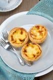 Portuguese custard tart Stock Photos