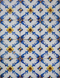 Portuguese decorative tiles azulejos Royalty Free Stock Photos