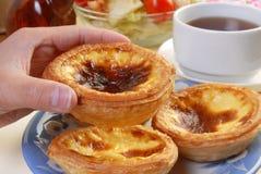 Portuguese  egg  tart Royalty Free Stock Images