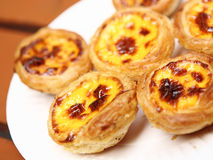 Portuguese egg tart Stock Photos