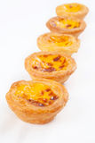 Portuguese egg tart Royalty Free Stock Photos