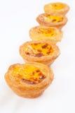 Portuguese egg tart Royalty Free Stock Photos