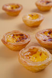 Portuguese egg tart Stock Photography