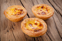 Portuguese egg tart Royalty Free Stock Images