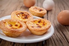 Portuguese egg tart Royalty Free Stock Photography