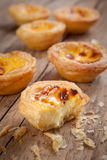 Portuguese egg tart Stock Photos