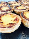 Portuguese egg tart Stock Photo