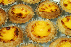 Portuguese egg tarts Stock Photo