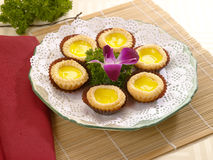 Portuguese egg tarts Royalty Free Stock Photography