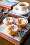 Portuguese Egg Tarts cuisine royalty free stock photos