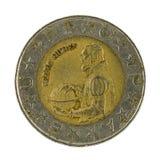 100 portuguese escuda moneta odizolowywająca na białym tle zdjęcie stock