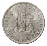 Portuguese Escudo coin Royalty Free Stock Photography