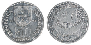 Portuguese escudo coin Stock Images