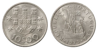 Portuguese Escudo coin Stock Photo