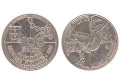 Portuguese 100 Escudos Coin Royalty Free Stock Images