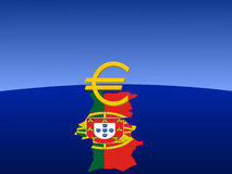 Portuguese euro sign Royalty Free Stock Images
