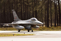 Portuguese F16 taxing. Stock Photography