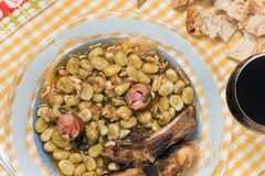 Portuguese Faba Beans Meal Stock Photo