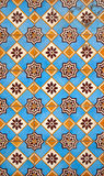 Portuguese facade glazed tiles royalty free stock image