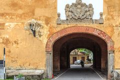 Tunnel entrance to the old gate of the Galle Fort, Sri Lanka. stock image