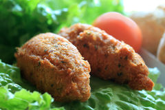 Portuguese fish cakes Royalty Free Stock Images
