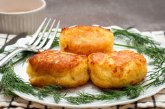 Portuguese fish cakes. Traditional recipe fish cakes made to a Portuguse recipe with salt cod Stock Images