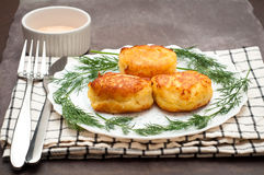 Portuguese Fish Cakes. Traditional recipe fish cakes made to a Portuguse recipe with salt cod Stock Photos
