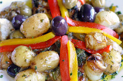 Portuguese fish salad Stock Images