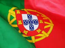 Portuguese flag. Close-up Royalty Free Stock Photo
