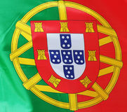 Portuguese flag. Close-up Stock Photos