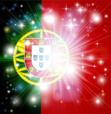 Portuguese flag background Royalty Free Stock Images