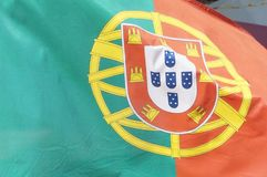 Portuguese flag in close-up - Europe Stock Photo