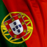 Portuguese Flag Closeup Royalty Free Stock Photo