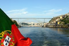 Portuguese flag Stock Photography
