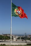 Portuguese flag flying Royalty Free Stock Photos
