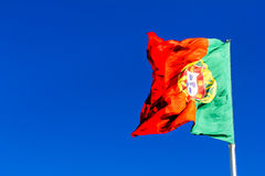 Portuguese flag waving Royalty Free Stock Images