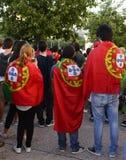 Portuguese Flags, Lisbon - UEFA European Championship Final 2016 Royalty Free Stock Photography