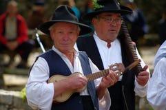 Portuguese folklore musicians Stock Image