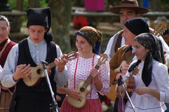 Portuguese folklore musicians Royalty Free Stock Image