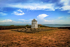 Portuguese fort Aguada. Goa. Candolim. India. Royalty Free Stock Image