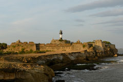 Portuguese fort in the Diu town in Gujarat Royalty Free Stock Photos
